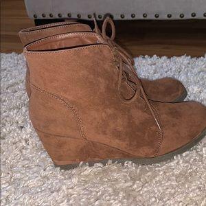 madden girl brown booties